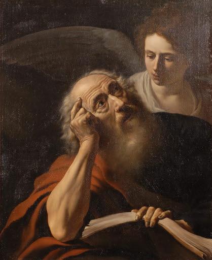 Evangelist Matthäus mit Engel