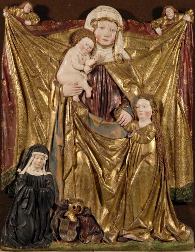 Anna Selbdritt mit der Stifterin Beatrix von Limpurg, Äbtissin der Zisterzienserinnenabtei Kirchheim am Ries von 1496 bis 1505