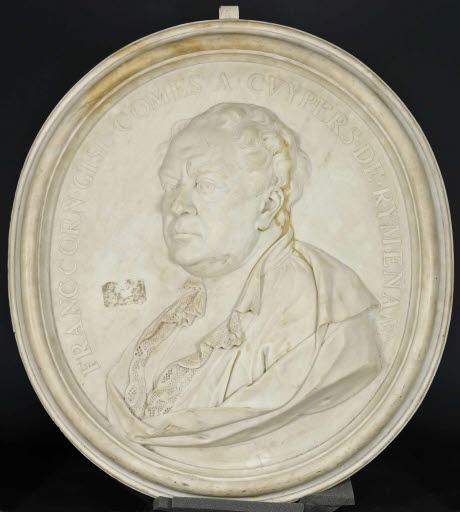 Porträt François Corneille Ghislain, Graf Cuypers de Rijmenam, in einem ovalen Medaillon