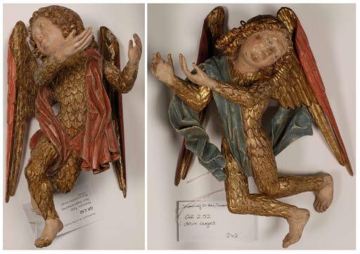 Zwei gefiederte Engel