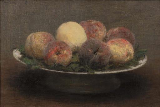 Stilleben mit Pfirsichen