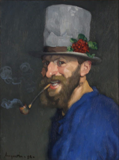 Autoportrait à la pipe (Selbstbildnis mit Pfeife)