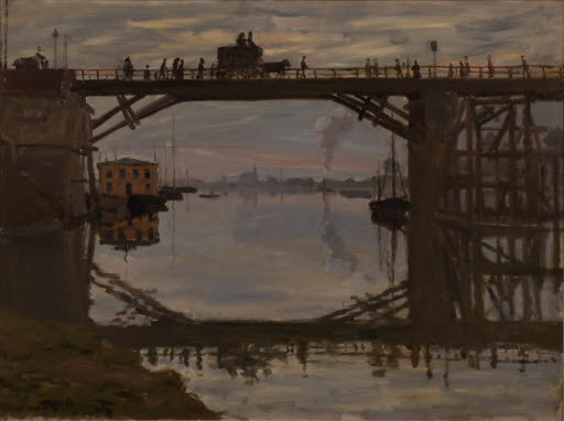 Le Pont de bois (Die Holzbrücke von Argenteuil)