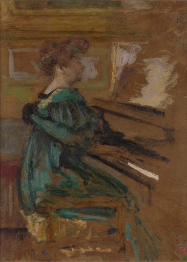 Frau am Klavier (Madame Fontaine)