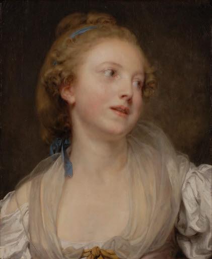 Porträt einer jungen Frau (evtl. Anne-Gabriel Greuze)