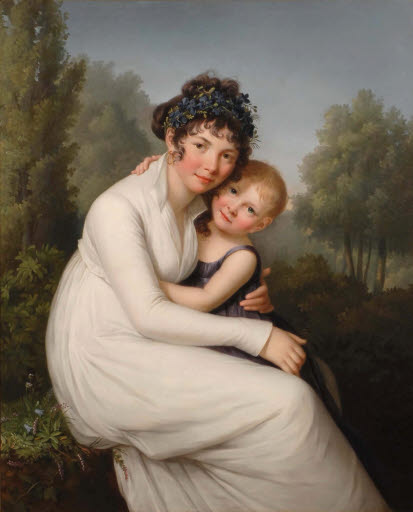 Porträt Madame de Lucqui mit ihrer Tochter