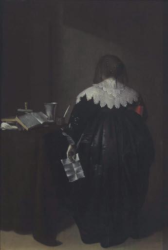 Genreszene (Frau mit Brief)