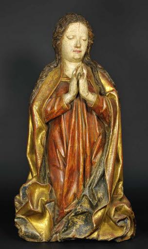 Kniende Maria (Teil einer Anbetungsszene oder Marienkrönung)
