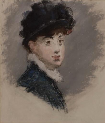 Frau mit schwarzem Hut
