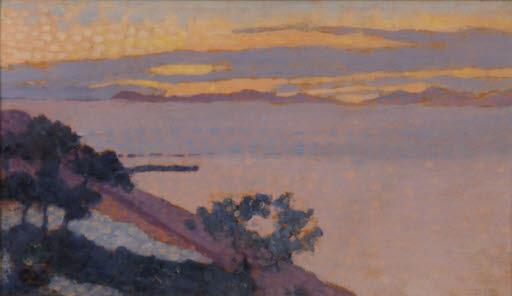 Paysage au soleil couchant (Landschaft bei Sonnenuntergang)