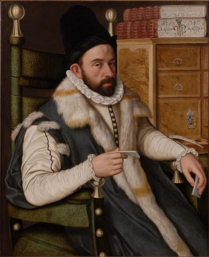 Porträt eines sitzenden Mannes
