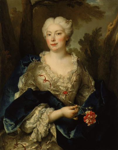 Porträt einer Frau mit Nelke