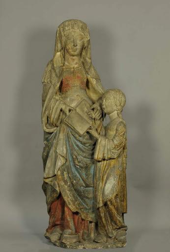 Die heilige Anna unterweist Maria im Lesen