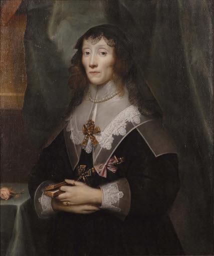 Porträt Henrietta Maria de Bourbon (1609 - 1669), Königin von England, Schottland und Irland, in Trauer