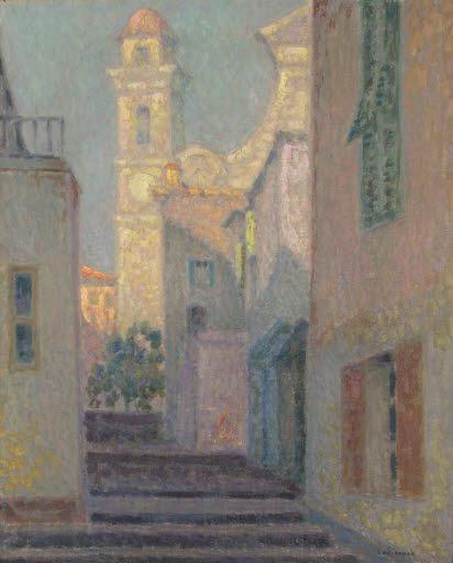 La rue de l'église, Villefranche-sur-Mer (Straße in Villefranche sur Mer)