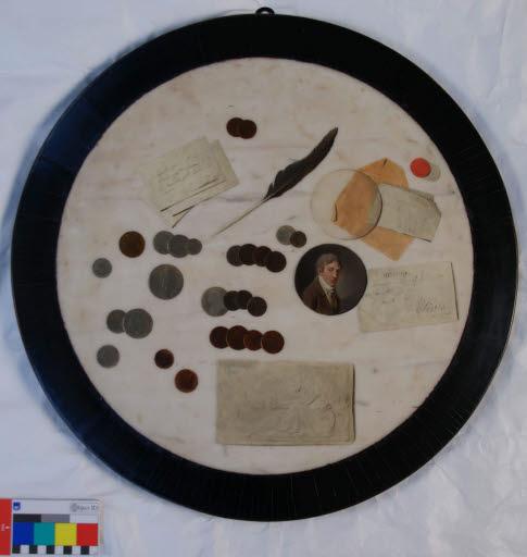 Trompe-l'oeil-Tischplatte