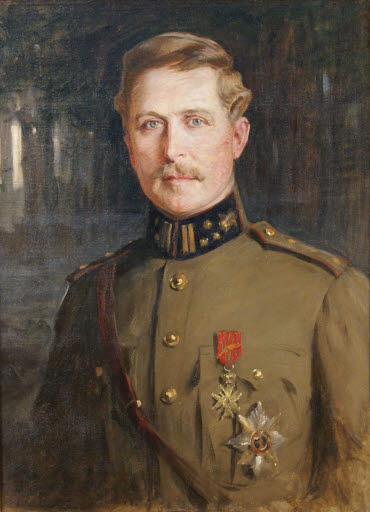 Porträt Albert I., König von Belgien