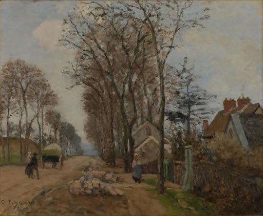 Die Straße von Saint-Germain nach Louveciennes