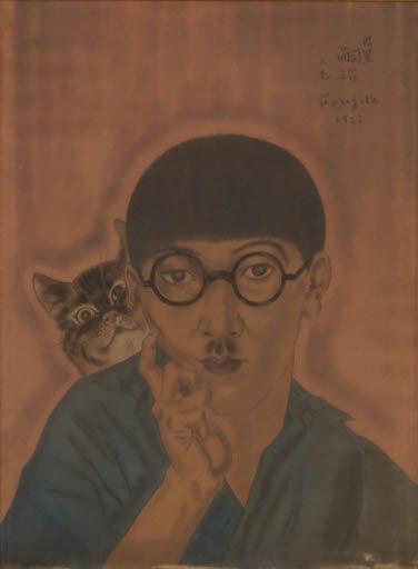 Autoportrait au chat (Selbstbildnis mit Katze)