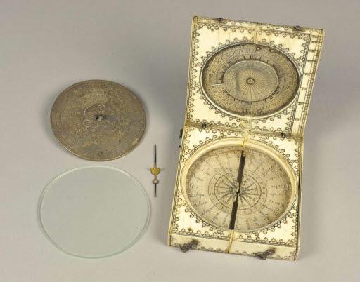 Azimut Kompass und Sonnenuhr