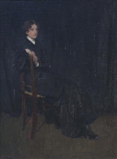 Bildnis einer sitzenden Dame