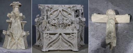 Fragmente eines Sakramentshauses
