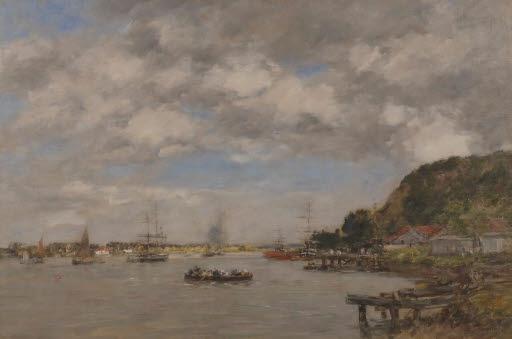 Der Fluss Garonne bei Lormont