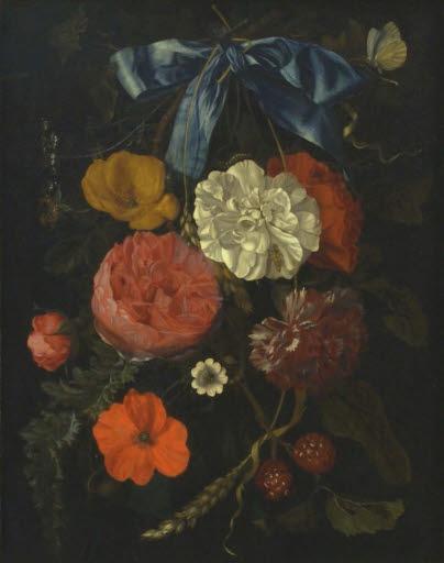 Hängendes Blumenbouquet