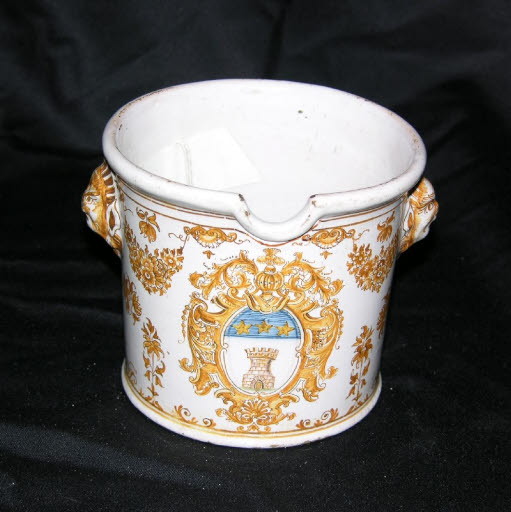 Mörser mit dem Wappen der Familie Sessoye (Flandern)