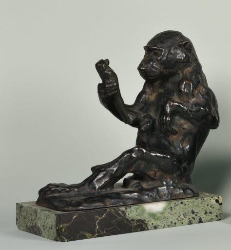 Singe à la statuette (Affe mit Statuette)