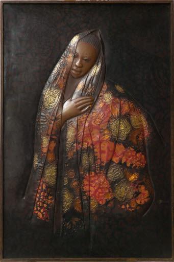 Porträt einer Afrikanerin (Halbfigur)