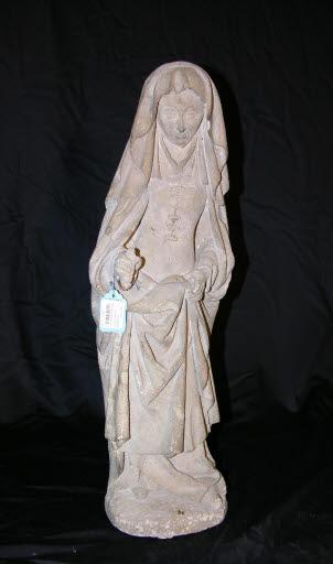 Jungfrau Maria oder evtl. trauernde Witwe aus einem Grabmal