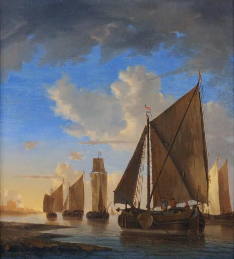 Smalschips nahe der Küste bei Sonnenuntergang