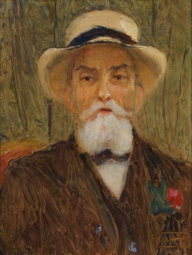 Porträt eines bärtigen Mannes mit Hut