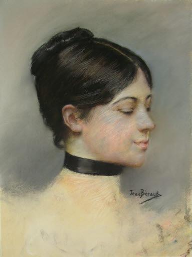 Mutmaßliches Porträt Marthe Mellot (1870 - 1947), Schauspielerin an der Comédie Française