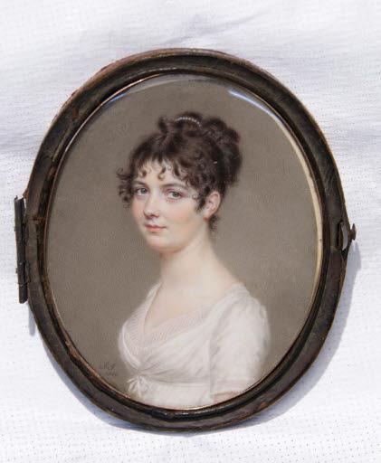 Porträt Miss E. Kent (Miniatur)