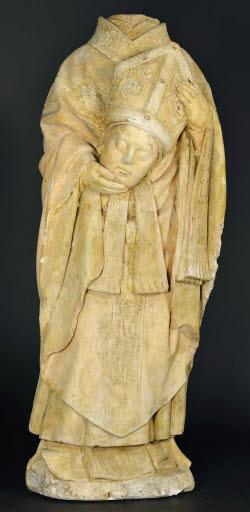 Heiliger Dionysius (?), seinen Kopf in den Händen haltend