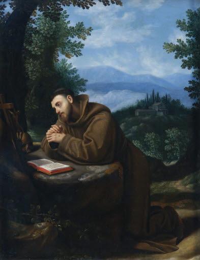 Heiliger Franziskus im Gebet