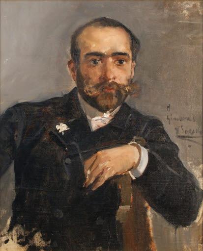 Retrato de Enrique Recio y Gil (Porträt des Malers Enrique Recio y Gil (1860 - 1910))