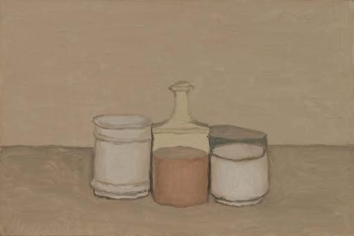 Stilleben mit Flasche und Gläsern