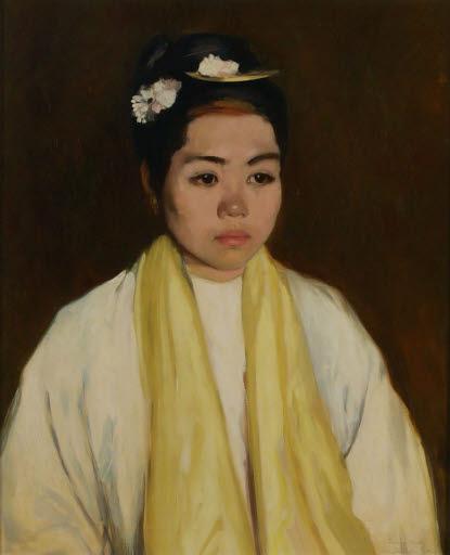 Porträt einer Frau aus Mandalay