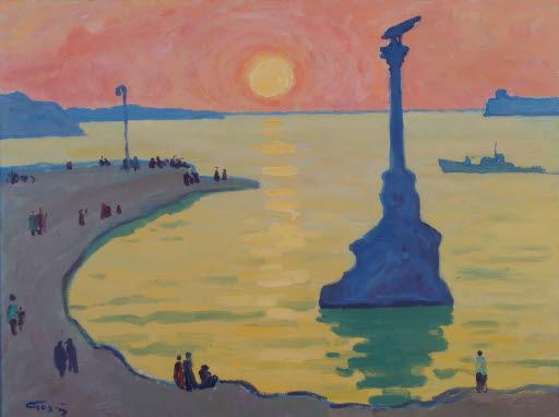 Der Hafen von Sebastopol, Sonnenuntergang