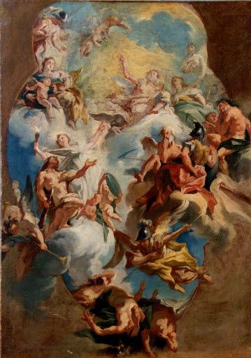Die Weisheit geleitet Herkules in den Olymp