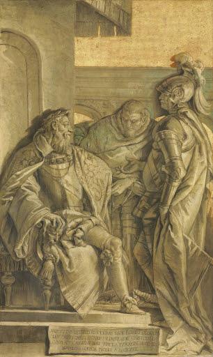 Ippolito Porto huldigt 1572 Kaiser Karl V.