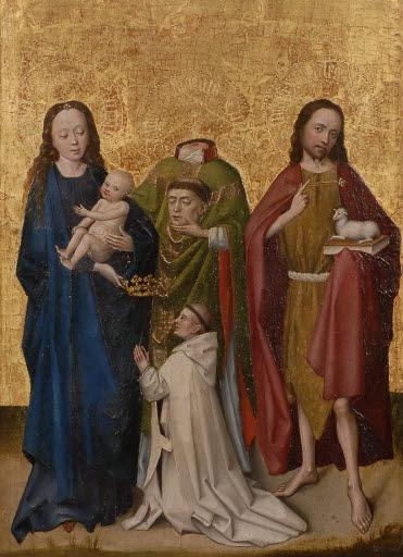 Madonna mit Kind, heiliger Dionysius (?), Johannes der Täufer und Stifterfigur