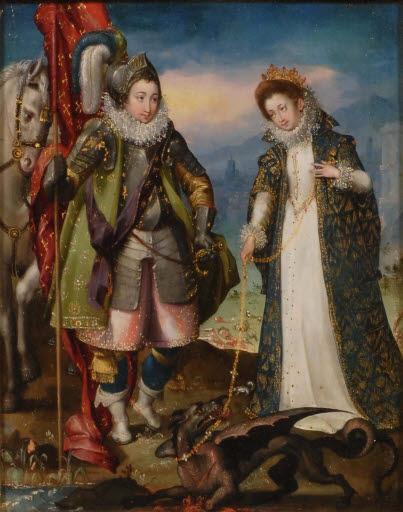 Der heilige Georg und die Prinzessin