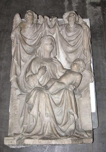 Thronende Madonna mit Kind und Engeln