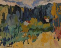 Fauvistische Landschaft bei Chatou