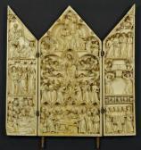 Triptychon mit neun Szenen aus dem Marienleben