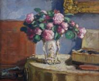 Nature morte au vase Louis-Philippe (Blumenstilleben mit Vase im Stil Louis-Philippe)